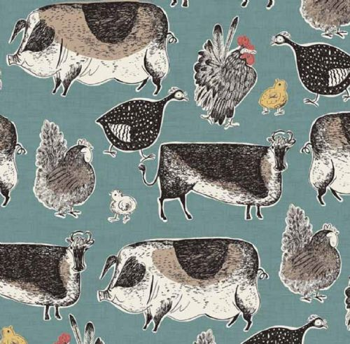 Makower Home Grown Animals Fabric